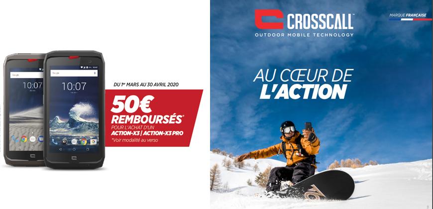 Remboursement 50€ Action X3