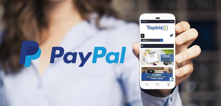 Paiement PayPal sur topbiz