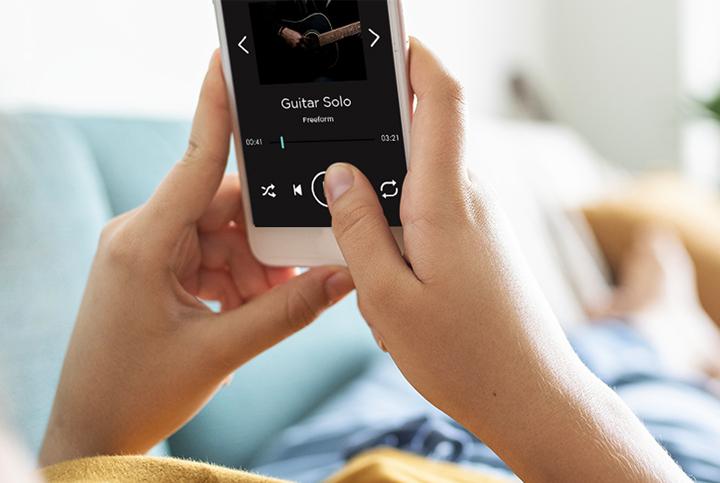 Commande de barre de son sans fil avec un smartphone